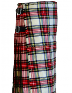 Scottish Active Men Utility Sport Traditional White Stewart tartan kilt