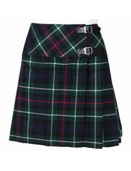 New Ladies Mackenzie Tartan Scottish Mini Billie Kilt Mod