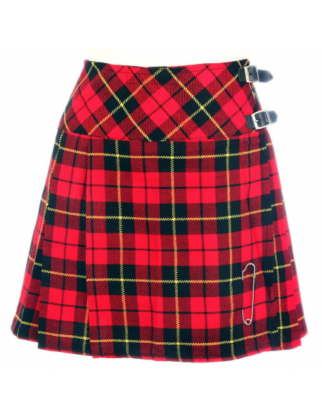 New Ladies Wallace Tartan Scottish Mini Billie Kilt