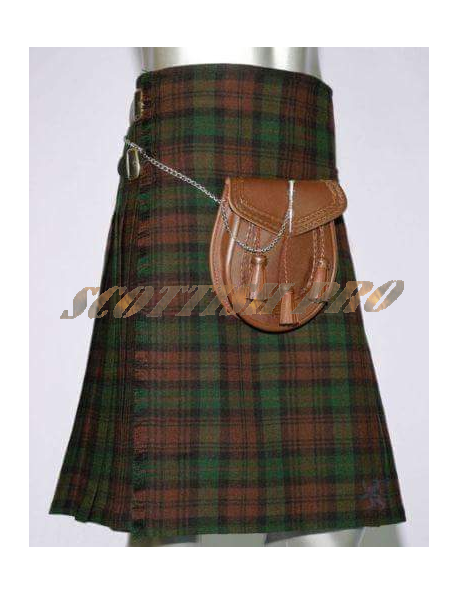 Scottish Active Men Brown watch Prime Fashion Kilt