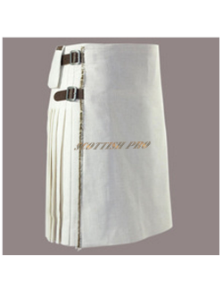 Scottish Men Utility white kilt