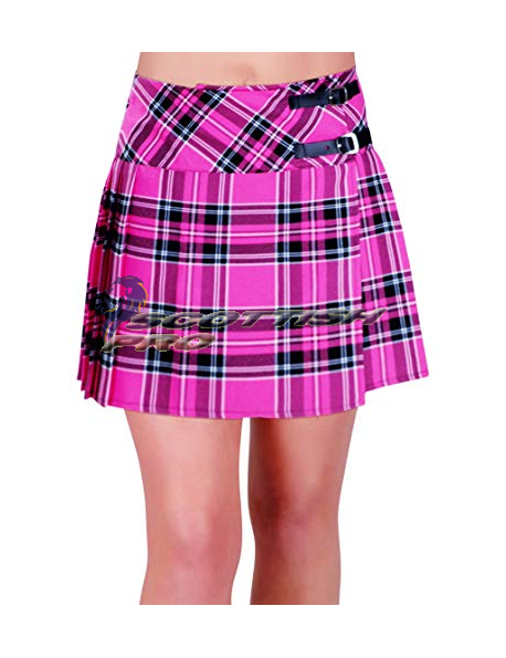 New Pink Tartan Mini KIlt Skirt