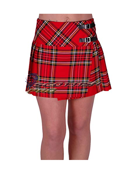 New Royal Stewert Tartan Mini KIlt Skirt
