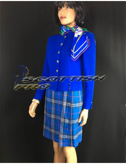 Blue Tartan Plaid Kilt Skirt Womens