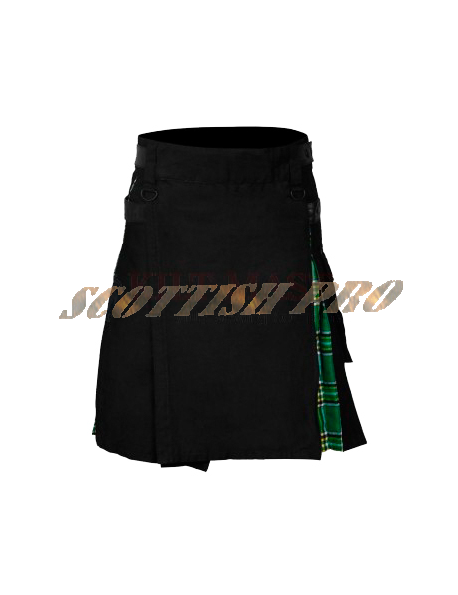 Blue Tactical kilt for men with multi metal work