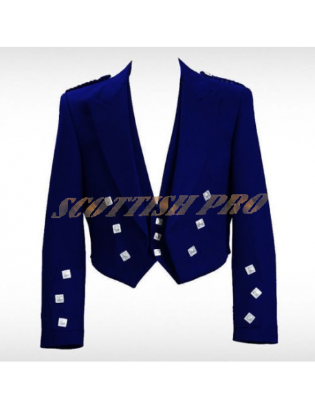 Prince Charlie Jacket with 3 Button Vest Navy Blue