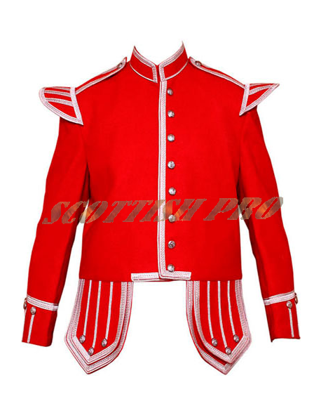 Red Men New Doublet Military Band Jacket