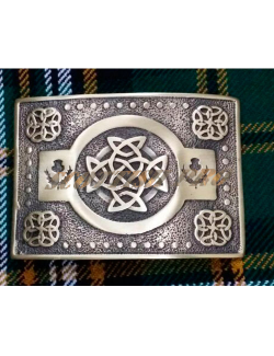 Celtic Knot Kilt Belt Buckle Antique Finish/Scottish Belts Buckles Thistle