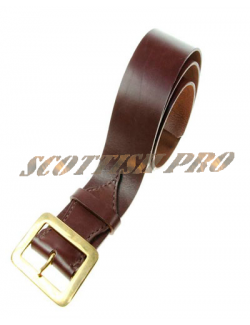 New Mens Leather Grained Kilt Belt