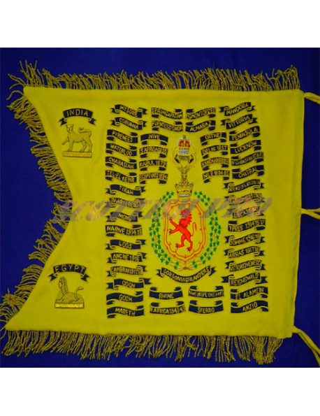 Scroll work | Battle Honors | Custom Bagpipe Banner | Hand Embroidered Scottish pro