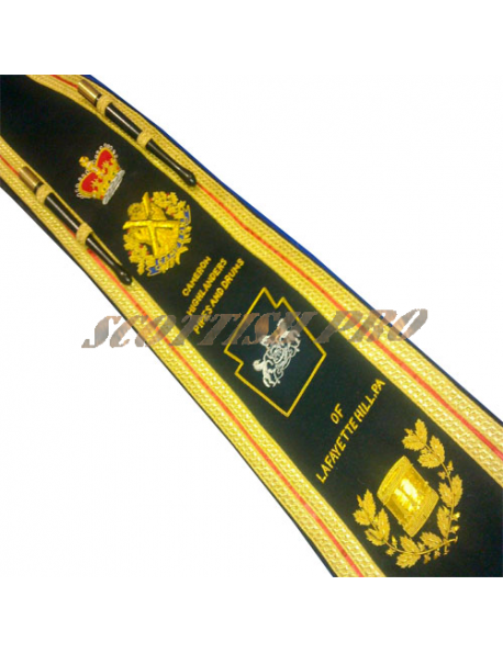 Pipe / Drum Major, Marching Band   Sash Baldric   Hand Embroidered by Scottish Pro