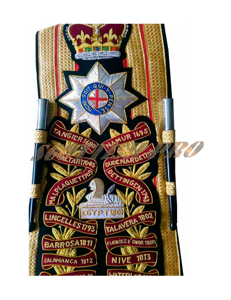 Coldstream Guards Drum Major's Baldric Sash Hand Embroidered