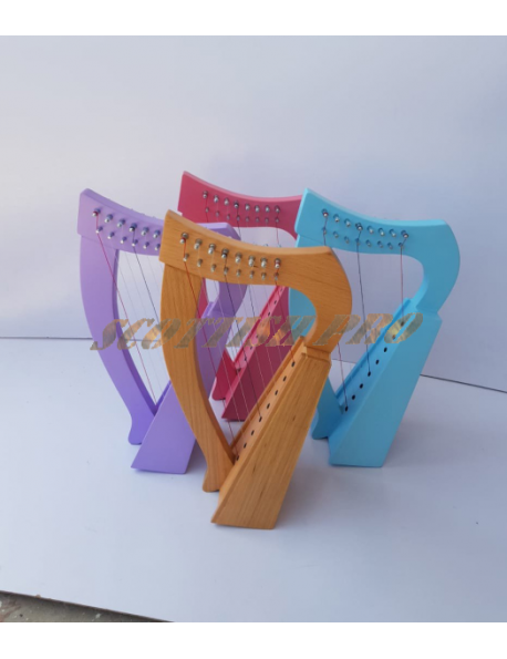 New 8 Strings Baby Harp Gift Harp Mini Harp With Free Carry Bag Tuning Key and Extra String Set