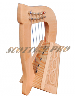 5 strings lacewood knotwork Celtic Irish Harp