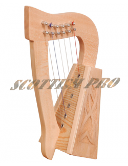 6 strings lacewood knotwork Celtic Irish Harp