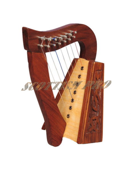 New 7 Strings Rosewood Knotwork Celtic irish harp
