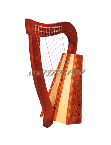 New 11 String Harp Knotwork Rosewood Baby Harp
