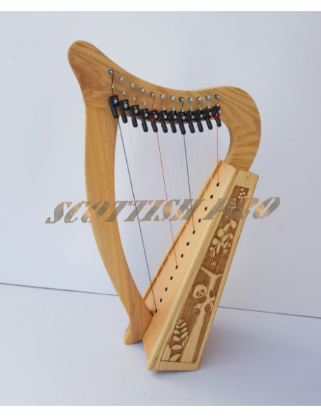 New 12 String Lever Harp Baby Harp With Bag and Extra String Set