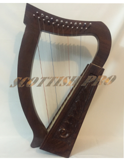New 12 String Irish Harp With Carry Bag and Extra String set