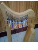 New 15 Strings Baby Harp Mini Harp With Carry Bag Tuning Key and Extra String Set