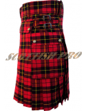 Scottish Highland Music Custom Wallace Tartan Fashion Men Modern Kilts