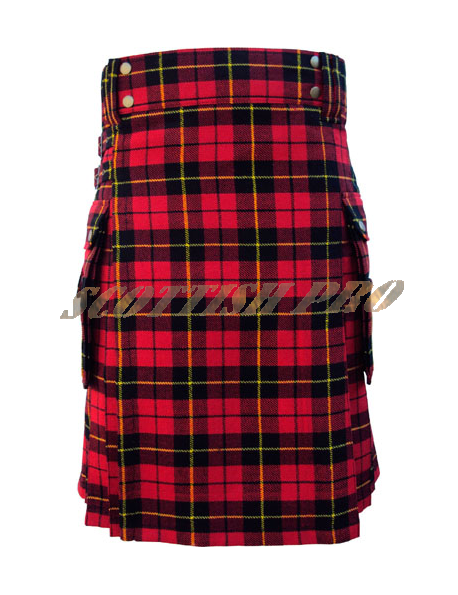 Scottish Highland Music Custom Wallace Tartan Kilts