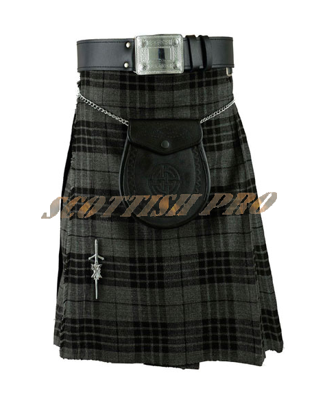 Scottish Men's Highland Grey Kilt