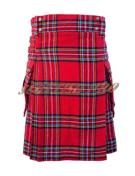 New Royal Stewart Tartan Pocket Kilt