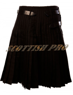 Scottish Active Men Utility Sports Black Tartan Kilt