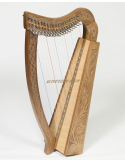 New Lever Harp 19 Strings Celtic Harp Irish Harp With Gig Bag and Tuning Key