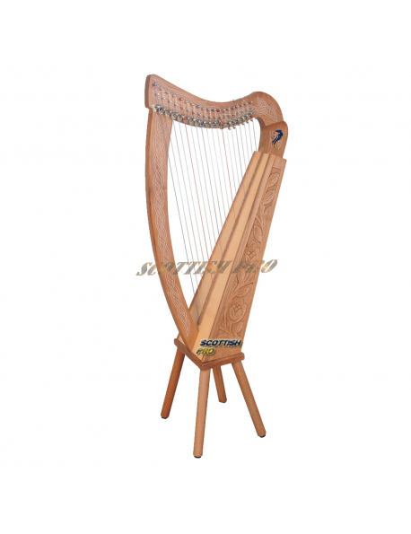 New 19 String Lever Harp Celtic Harp Irish Style Harp With Bag and Tuning Key