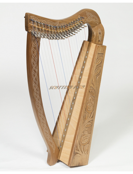 New Lever Harp 19 Strings Celtic Harp Irish Harp With big Bag and Tuning Key