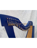 New Lever 22 String Lever Harp Blue color