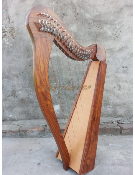 New Lever 22 Lever String Engraving Harp