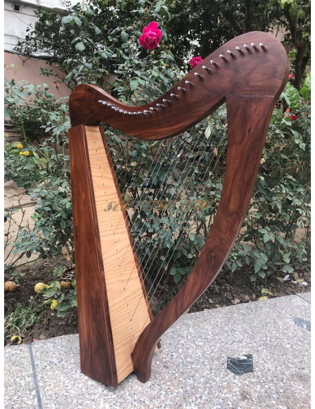 New 26 Strings Lever Rosewood Harp