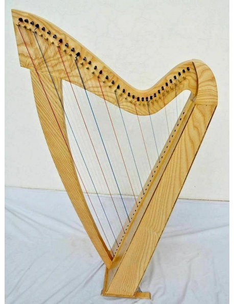 new 34 Strings Folk Harp Irish Harp Celtic Harp With Deluxe Bag and Tunning K