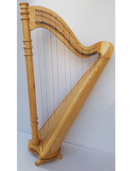 New 34 Strings Student Harp Therapy Harp Floor Harp With Carry Bag and Tuning Key