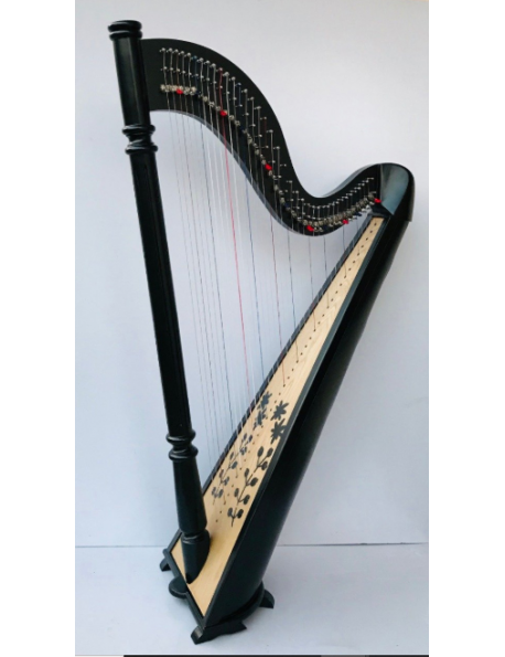 New 38 Strings Harp Therapy Harp Floor Harp With Carry Bag and Tunning Key