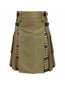 Camouflage and lewis Tartan Hybred kilt