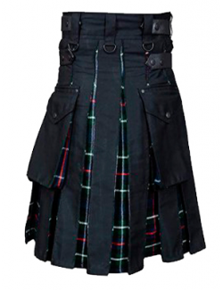 Black And Mackenzie TartanHybrid Utility Kilt