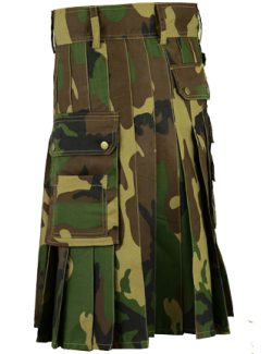 Woodland Army Camo Sports Utility Kilt