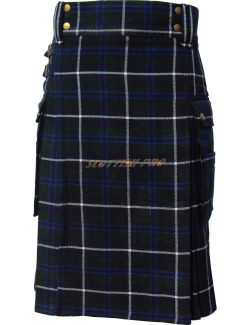 Scottish Active Men Utility Sports Douglas Tartan Pocket Kilts Unisex Adult