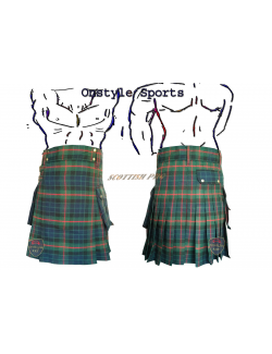 Scottish Active Men Gunn Tartan Prime Utility Fashion Kilt 14oz Acrylic